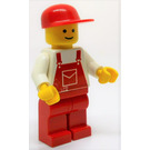 LEGO Creator Board Male, Red Overalls Minifigure