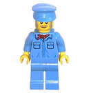 LEGO Crocodile Train Crew (Old Man) Minifigure