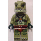 LEGO Crocodile Tribe Warrior with Yellowish Green Lower Jaw Minifigure