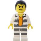 LEGO Crook in White With Grey Horizontal Stripes Minifigure