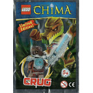 LEGO Crug minifigure with armour and sword Set 391406