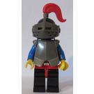 LEGO Crusader Knight Black Helmet Plate Armour Medium Plume Minifigure