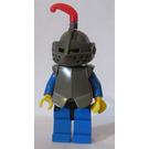 LEGO Crusader Knight Dark Grey Helmet Plate Armour Small Plume Minifigure
