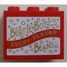 """LEGO Cupboard 2 x 3 x 2 with """"BERTIE BOTT'S EVERY-FLAVOR BEANS"""" Sticker with Solid Studs (92410)"""