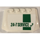 LEGO Curved Wedge Plate 4 x 6 x 2/3 with 24-7 Service Sticker (52031)
