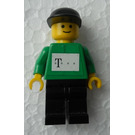 LEGO Cyclist Telekom racing team with sticker on front and back Minifigure