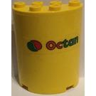 LEGO Cylinder 2 x 4 x 4 with 'Octan' Sticker (6218)