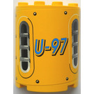 LEGO Cylinder 2 x 4 x 4 with U-97 Sticker from Set 8250/8299 (6218)