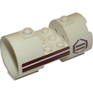 LEGO Cylinder 3 x 6 x 2 2/3 Horizontal with Sticker from Set 8085 Hollow Center Studs (30360)