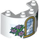 LEGO Cylinder Half 2 x 4 x 2 with Cutout with Decoration (66672)