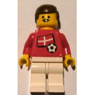 LEGO Danish Football Player With Moustache with Stickers Minifigure