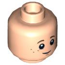 LEGO Danny Reid Head (Recessed Solid Stud) (13925)