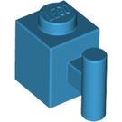 LEGO Dark Azure Brick 1 x 1 with Handle (28917)