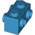 LEGO Dark Azure Brick 1 x 2 with Studs on Opposite Sides (52107)