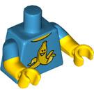 LEGO Dark Azure Clumsy Guy Minifig Torso (16360)