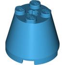 LEGO Dark Azure Cone 3 x 3 x 2 with Axle Hole (6233)