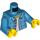 LEGO Dark Azure Dad with Beard Minifig Torso (76382)