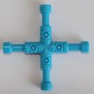 LEGO Dark Azure Lug Wrench, 4-Way (11402)