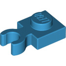 LEGO Dark Azure Plate 1 x 1 with Vertical Clip (Thick Open 'O' Clip) (44860 / 60897)