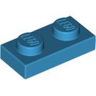 LEGO Dark Azure Plate 1 x 2 (3023)