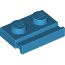 LEGO Dark Azure Plate 1 x 2 with Door Rail (32028)