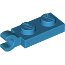 LEGO Dark Azure Plate 1 x 2 with Horizontal Clip on End (63868)