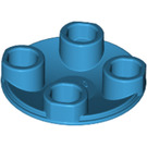 LEGO Dark Azure Plate 2 x 2 Round with Rounded Bottom (2654)