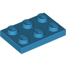 LEGO Dark Azure Plate 2 x 3 (3021)