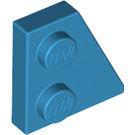 LEGO Dark Azure Wedge Plate 2 x 2 (27°) Right (24307)