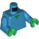 LEGO Dark Azure Zombie Minifig Torso (76382)