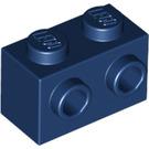 LEGO Dark Blue Brick 1 x 2 with Studs on One Side (11211)