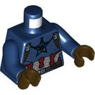 LEGO Dark Blue Captain America Minifig Torso (76382)