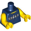 LEGO Dark Blue Cole Minifig Torso (88585)