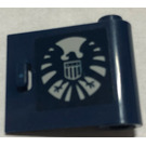 LEGO Dark Blue Door 1 x 3 x 2 Right with Sticker from Set 6867 with Hollow Hinge