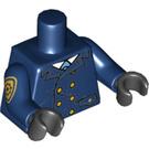 LEGO Dark Blue GCPD Officer Minifig Torso (88585)
