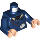 LEGO Dark Blue Minifig Torso with Jacket and Fur Collar (76382)