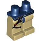 LEGO Dark Blue Minifigure Hips with Tan Legs with Gun Holster (48460)