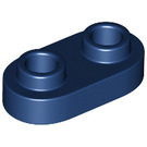 LEGO Dark Blue Plate 1 x 2 with Rounded Ends and Open Studs (35480)