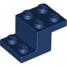 LEGO Dark Blue Plate 2 x 2 with 2 x 3 x 1.3 Bracket (18671)