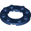 LEGO Dark Blue Plate 4 x 4 Round with Cutout (11833 / 28620)