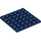 LEGO Dark Blue Plate 6 x 6 (3958)