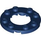 LEGO Dark Blue Plate Round 4 x 4 with Ø16mm Hole (11833)