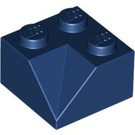 LEGO Dark Blue Slope 2 x 2 (45°) with Double Concave (Rough Surface) (3046)