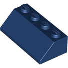 LEGO Dark Blue Slope 2 x 4 (45°) with Rough Surface (3037)
