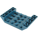 LEGO Dark Blue Slope 4 x 6 45° Double Inverted with Open Center 3 x Ø4.9 Holes (60219)