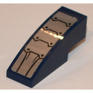 LEGO Dark Blue Slope Curved 3 x 1 with Metal Plates and Eight Black Circles from Set 70321 Sticker