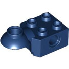 LEGO Dark Blue Technic Brick 2 x 2 with Hole, Half Rotation Joint Ball Horiz (48170)