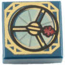 LEGO Dark Blue Tile 1 x 1 with Compass Decoration with Groove (96357)