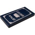 LEGO Dark Blue Tile 2 x 4 with Cauldron Sale Sticker