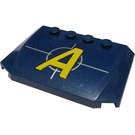 LEGO Dark Blue Wedge 4 x 6 Curved with Agents Logo Sticker